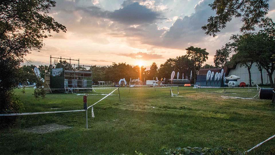 Das Sportgelände der BW Olympix im Morgengrauen